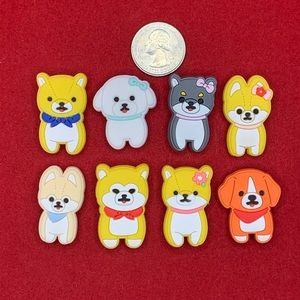 Pack of Puppies shoe charm set